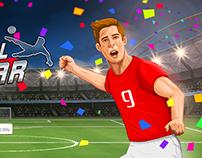 Football Super Star-Character Illustrations