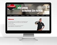 Firmowa strona www firmy Lebag.