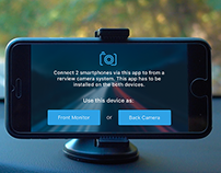 Camera interface to record the scene behind a vehicle.