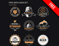Free Beer Logo Set Template in PSD, AI, EPS