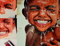 """EMERSION """" colour pencil painting by anil ayyakutty"""