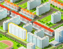 Интерактивная карта жилого района