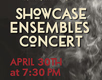 Showcase Ensembles Concert Poster