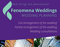 A flyer for wedding organisers
