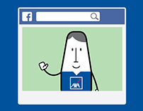 AXA's social content playbook: Illustration style