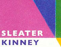 SLEATER KINNEY gigposter