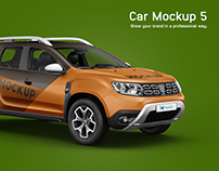 Dacia Duster Car Mockup
