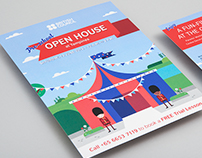 British Council Pre-school Open House graphics