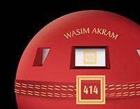 Kiosk - WASIM AKRAM 414 by J.