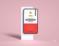 Free Modern Banner Mockup