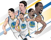 Golden State Warriors Fan Card Illustration