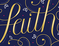 Lettering Project - Faith Hope Love