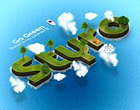 Go Green, STYRO Logo