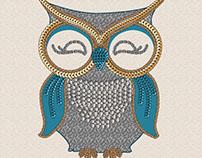 Glitzy Owl