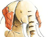 Le Voyage du Grand Eléphant, illustrations
