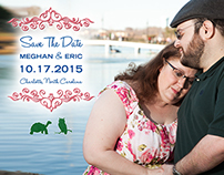 Weger-Katowitz Wedding Save the Date Postcards