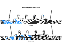H.M.T. Olympic - Dazzle Camouflage