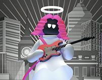 [Loop Animation] God Guitarist / Smiley Jo