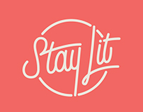 Stay Lit Candle Co. Branding & Packaging