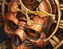 Steampunk Skull+Process