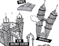 ::: Kuala Lumpur Illustration Design | 手繪吉隆坡旅遊地圖:::