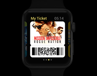 My Ticket App Concept Design (Apple Watch)