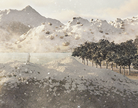 Matte Painting Snow Scene