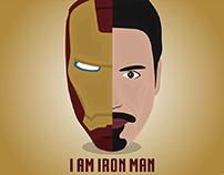 Iron Man Illustration | Flat