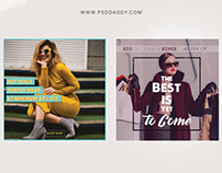 Women Winter Collection Social Media Template Set