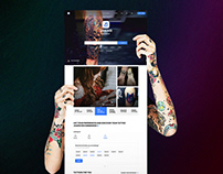 Tattoo Industry   Responsive Web App