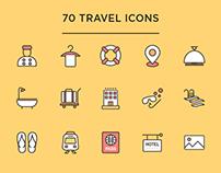70 Travel Icons