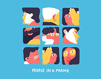 people in a frame