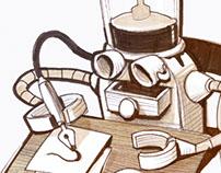 Coffee-powered Drawing Machine