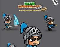 [FOR SALE] BLUE KNIGHT 2D GAME CHARACTER SPRITE