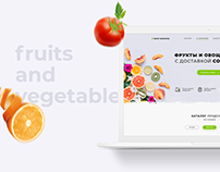 Fruits and vegetables with delivery. Landing Page