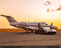 Cessna Citation M2 Sunset shoot
