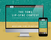 TOMS Holiday Lip Sync Contest - responsive microsite