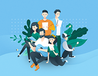 School Website Design / Illustrations