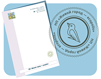 Letterhead and stamp for ecological organisation