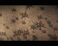 Spiders crowd in AE
