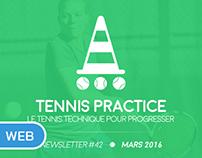 "Newsletter ""Tennis Practice"""