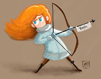 Game of Thrones . Character Design Challenge YGRITTE
