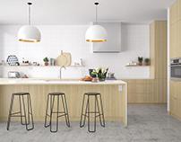 Minimalist kitchen - Melbourne, Australia