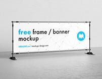 Free banner frame mockup