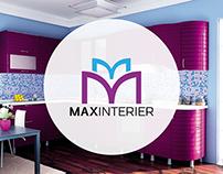 Нейминг, логотип и дизайн группы ВК для MAXINTERIER