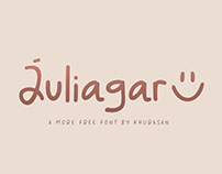 Juliagar free font for commercial use