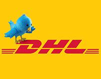 DHL Social Media Concept