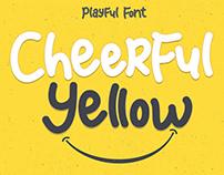 Cheerful Yellow Display Font