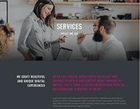 Dark WordPress Theme - Services Page