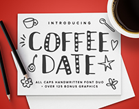 COFFEE DATE Handwritten Font Duo